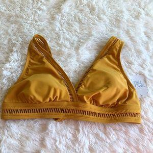 NWT Time and Tru Yellow Bikini Top